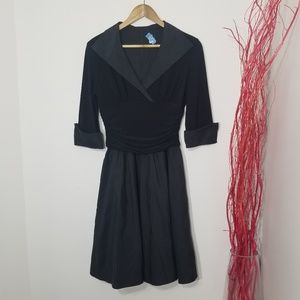 Jessica Howard | Black Evening Midi Dress